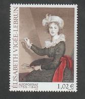 """Timbre  -  2002  -  N °3526   -   Série Artistique , Elisabeth Vigée - Lebrun  - """"autoportrait""""  - Neuf Sans Charnière - Unused Stamps"""