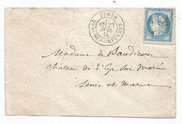 SEINE - PARIS - Etoile 32 Quai Des Orfèvres/TP N°60 + Càd Type 17 - 1875 - RARE - 1871-1875 Cérès
