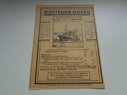 Origineel Knipsel ( 2553 ) Uit Tijdschrift  1934  : Reclame   Publicité  Boot  Bateau  Oostende - Dover - Altri