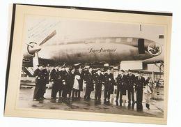 Equipage Du 1° Vol Polaire En Super Starliner Air France 1958 - Aviation