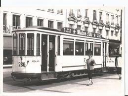 Grande Photo - Tramway à Strasbourg En Gros Plan - Pub  Meteor Pils Bière D'Alsace - Trains
