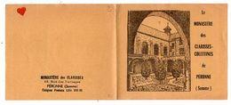 41762-ZE-80-MONASTERE Des CLARISSE-COLETTINES-PERONNE-----Petit Livret De 2 Feuillets Avec 12 Timbres Publicitaires - Reiseprospekte