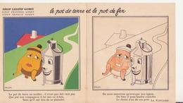 """Fable à Colorier 'le Pot De Terre Et Le Pot De Fer"""" - Vieux Papiers"""