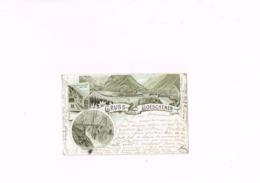 Gruss Aus Goeschenen,Lith Synnberg & Rüttger,Luzern,carte Postale Ancienne 1898. - UR Uri