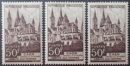 R1949/2034 - 1951 - ABBAYE AUX HOMMES / CAEN - N°917 Brun Clair à Brun Foncé NEUFS** - Cote (2020) : 18,00 € - Ongebruikt