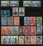 A.E.F. Collection De 139 Timbres . Neufs Et Oblitérés, Tous Scannés. Très Bon état. Rares Traces De Charnières. - Timbres