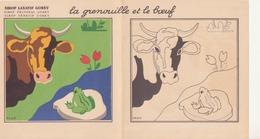 """Fable à Colorier 'la Grenouille Et Le Boeuf"""" - Vieux Papiers"""