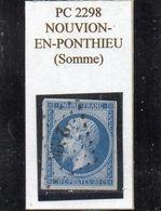 Somme - N° 14B Obl PC 2298 Nouvion-en-Ponthieu - 1853-1860 Napoléon III