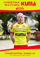 CARTE CYCLISME CONSTANTINO ZABALLA TEAM CHRISTINA - KUMA  2014 - Ciclismo