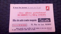 Buvard - CLAIRETTE, 15 Rue Du Lait AURAY - Camionette Citroen - Macchina