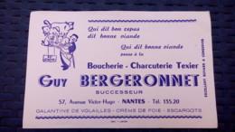 Buvard - Guy Bergeronnet, 57 Avenue Victor Hugo, Nantes / Boucherie, Charcuterie Texier - Buvards, Protège-cahiers Illustrés