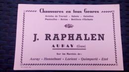 Buvard - J. Raphalen AURAY (Gare) Présent Sur Les Marchés De Hennebont, Lorient, Quimperlé, Etel - Carte Assorbenti