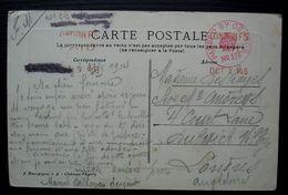 1914 Marque De Censure Britannique Sur Une Carte De Château Thierry Pour Londres, D'un Sergent De La 14e Compagnie - Guerre De 1914-18