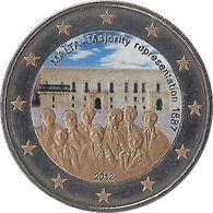 MALTE - 2 Euros Commémorative Couleurs - Représentation Majoritaire 2012 - Malta