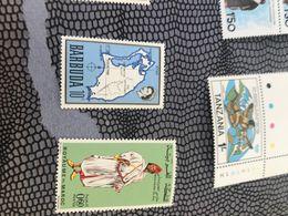BARBUDA MAPPA E REGINA AZZURRO 1 VALORE - Postzegels