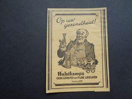 Origineel Knipsel ( 4259 ) Uit Tijdschrift  1934 :  Reclame  Publicité  Genever Hulstkamp - Alcools