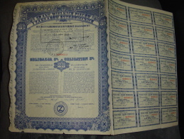 """Obligation""""Hauts Fourneaux Et Usines D'Ostrowiec""""1935 Bon état,reste Des Coupons. - Russia"""