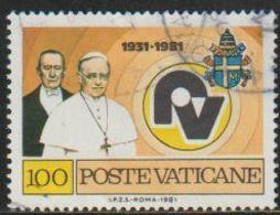 Vaticano 1981 Scott 681 Sello º Radio Vaticano Papa Pio XI Y Gillermo Marconi Yvert702 Michel 779 Vatican City Stamps - Vatican