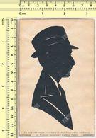 1938 Gentleman Silhouette, Man W Hat Guy Portrait Original Vintage Hand Made Siluette Beograd Old Art Card Carte Postale - Silhouette - Scissor-type