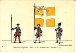 Drapeau - Imagerie PELLERIN Epinal N°9 - Régiment De Normandie - Regimenten