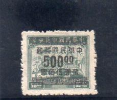 CHINE 1949 SANS GOMME - 1912-1949 Republic