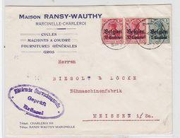 Besetzung Belgien Brief Mit MIF+Zensur - Occupation 1914-18
