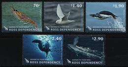 Ross-Gebiet 2013 - Mi-Nr. 134-138 ** - MNH - Wildtiere / Wild Animals - Nuevos