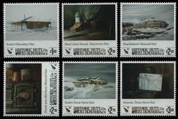 Ross-Gebiet 2017 - Mi-Nr. 155-160 ** - MNH - Historische Gebäude - Nuevos