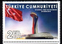 TURKEY, 2018, MNH, AIRPORTS, FLAGS, NEW INSTANBUL AIRPORT,1v - Transports