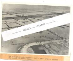 """Photo ORIGINALE - Guerre 40/45 - """" GENNEP BAILEY """" Le Plus Grand Pont (ponton Bailey ) Construit Par Les Anglais 1945 - 1939-45"""