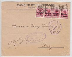 Besetzung Belgien Brief Mit MEF+Zensur - Occupation 1914-18