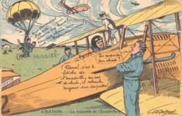 "MILITARIA - HUMORISTIQUE  ""AVIATION - LA MASCOTTE DE L'ESCADRILLE""   ILLUSTRATEUR - GAILLARD - Humoristiques"