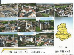 EN AVION AU-DESSUS DE LA HAUTE-VIENNE    ...  MULTI-VUES - Gruss Aus.../ Gruesse Aus...