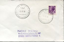 55142  Italia, Special Postmark Brescia 1970 , 43^adunata Nazionale Alpini - Italie