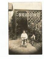 """THD. 0265/ Carte Photo Non Située. Enfant Sur """"vélo"""" Et Cheval à Roulettes - Games & Toys"""