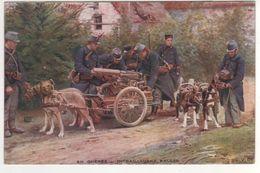 Série B N° 3 , En Guerre , Mitrailleuse Belge ( Attelage De Chiens )... Non écrite - Guerre 1914-18