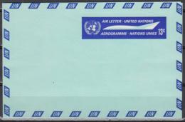 Nations Unies New York  Entier Postal Lettre Enveloppe 13 C ** - New-York - Siège De L'ONU