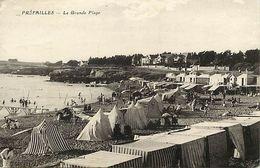 - Loire Atlantique -ref-C163- Préfailles - La Grande Plage - Cabines De Bain - Petit Plan Villas - Voir Description - - Préfailles