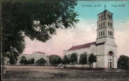 ! Alte Ansichtskarte Aus Flatow In Westpreußen, Evangelische Kirche, 1918, Stempel Kujan - Polen