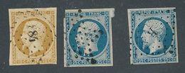 DP-132: FRANCE: Lot Avec N°9 Obl (replaqué) 10 (2 De 2ème Choix) - 1852 Louis-Napoléon