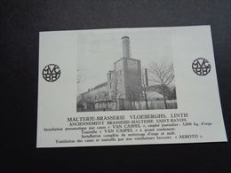 "Origineel Knipsel ( 4269 ) Uit Tijdschrift "" Brasseur "" :  Reclame  Publicité Brouwerij Brasserie Vloeberghs Linth Lint - Altri"