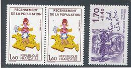 DP-133: FRANCE: Lot Avec N°2202a**tenant à Normal-2357b** - Variétés: 1980-89 Neufs