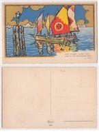 NM.668 - VERNI Poesia Illustrateur CECAMI, Dorata, Pailletée, Glitter - School