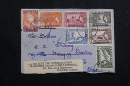 MALAISIE PENANG - Devant D'enveloppe En 1957 Pour La France, Affranchissement Plaisant - L 62597 - Penang