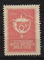 Österreich Östereichischer Arbeiter Briefmarken Sammel Verein Spendenmarke Cinderella Vignet Werbemarke Propaganda - Fantasy Labels