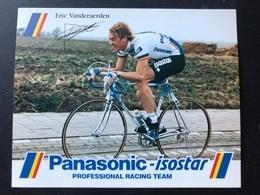 Eric Vanderaerden - Panasonic 1988 - Carte / Card - Cyclists - Cyclisme - Ciclismo -wielrennen - Cycling