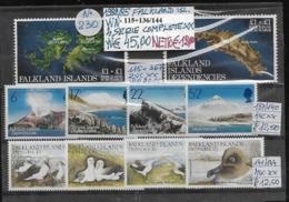 """FALKLAND ISLANDS **1982/1985 TEMATICHE """"ISOLA, VULCANI E ALBATROS"""", 4 SERIE COMPLETE - Falkland"""