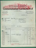 33 Bordeaux Grenouilleau Landais Sacs En Papiers Impressions 1961 - Printing & Stationeries
