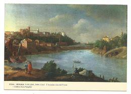 XW 2302 Hendrik Van Lint - Roma L'Aventino Visto Dal Tevere - Dipinto Paint Peinture / Non Viaggiata - Peintures & Tableaux