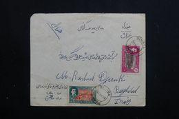 IRAN - Affranchissement Plaisant De Tauris Sur Enveloppe Pour Baghdad En 1951 - L 62603 - Iran